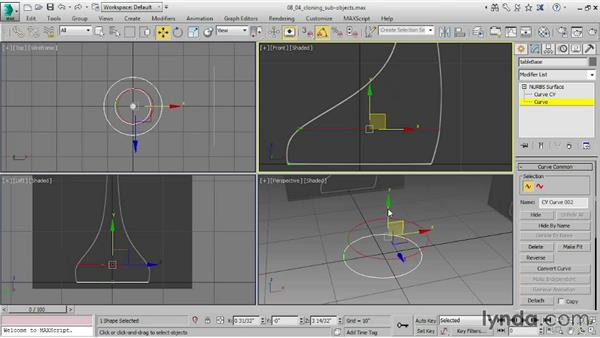 Cloning subobjects: 3ds Max 2015 Essential Training