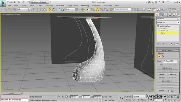 Creating a U loft surface: 3ds Max 2015 Essential Training