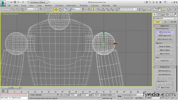 Moving and rotating pivot points: 3ds Max 2015 Essential Training