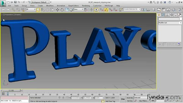 Viewport clipping: 3ds Max 2015 Essential Training