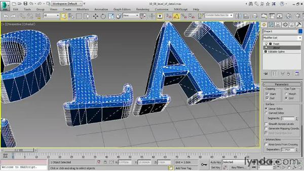 Controlling level of detail: 3ds Max 2015 Essential Training