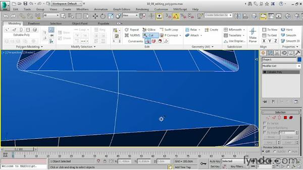Editing polygons: 3ds Max 2015 Essential Training