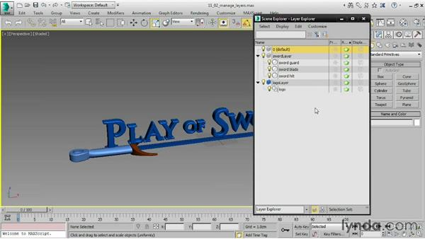 Managing Display layers: 3ds Max 2015 Essential Training