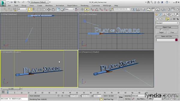 Enabling Safe Frames: 3ds Max 2015 Essential Training