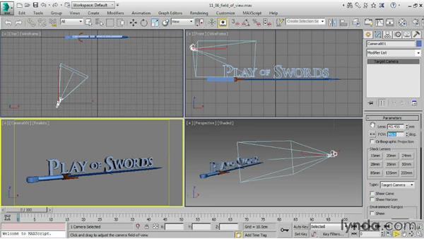 Adjusting Field of View: 3ds Max 2015 Essential Training