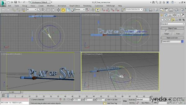 Using a free camera: 3ds Max 2015 Essential Training