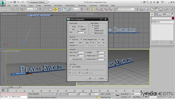 Setting up Time Configuration: 3ds Max 2015 Essential Training
