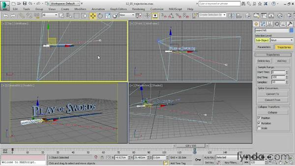 Editing position keys with trajectories: 3ds Max 2015 Essential Training