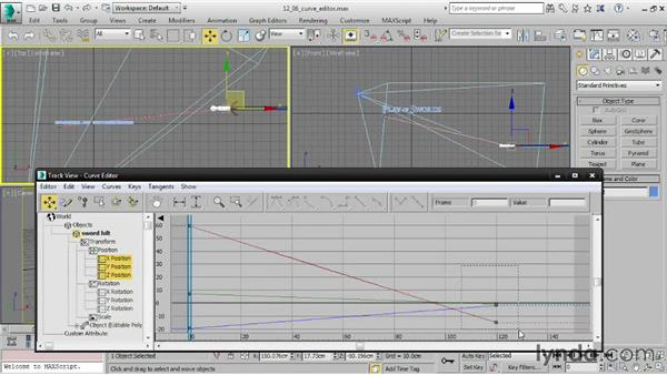 Editing function curves in the Curve Editor: 3ds Max 2015 Essential Training