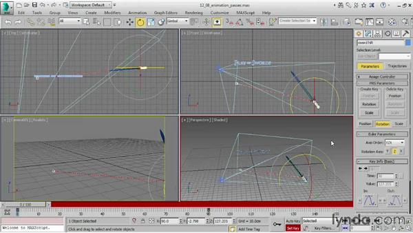 Building up animation in passes: 3ds Max 2015 Essential Training