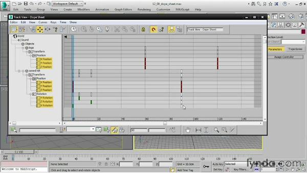 Editing keyframes in the Dope Sheet: 3ds Max 2015 Essential Training