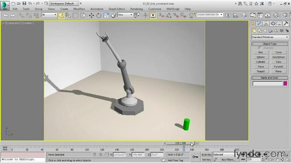 Assigning a Link constraint: 3ds Max 2015 Essential Training