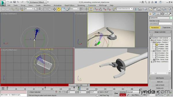 Animating constrained objects: 3ds Max 2015 Essential Training