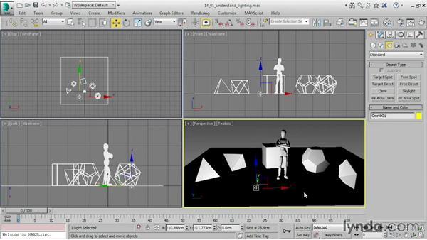 Understanding CG lighting: 3ds Max 2015 Essential Training