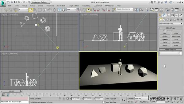 Previewing renders with ActiveShade: 3ds Max 2015 Essential Training