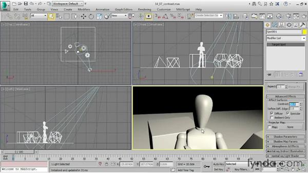 Controlling contrast and highlights: 3ds Max 2015 Essential Training