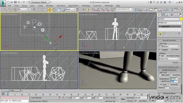Optimizing shadow maps: 3ds Max 2015 Essential Training