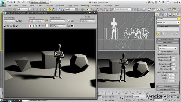 Optimizing area shadows: 3ds Max 2015 Essential Training