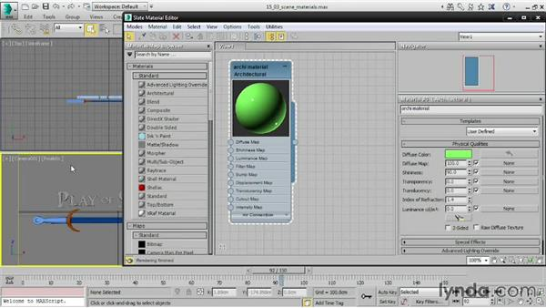 Working with scene materials: 3ds Max 2015 Essential Training