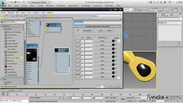 Assigning Multi/Sub-Object materials: 3ds Max 2015 Essential Training