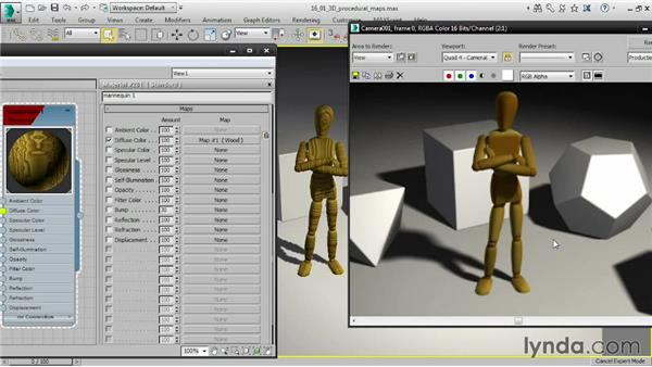 Applying 3D procedural maps: 3ds Max 2015 Essential Training