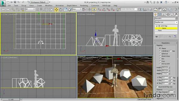 Projecting UVW mapping: 3ds Max 2015 Essential Training
