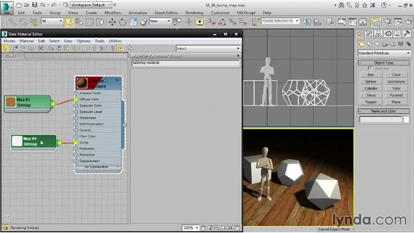 Mapping a bump channel: 3ds Max 2015 Essential Training