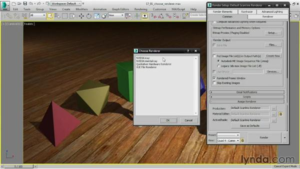Choosing a renderer: 3ds Max 2015 Essential Training