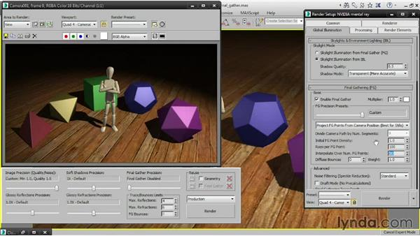 Tuning Final Gather: 3ds Max 2015 Essential Training