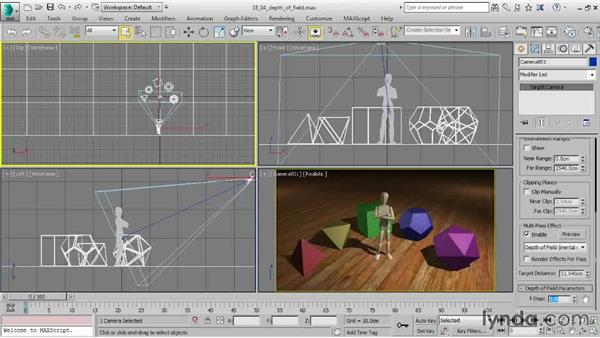 Distance blurring with depth of field: 3ds Max 2015 Essential Training
