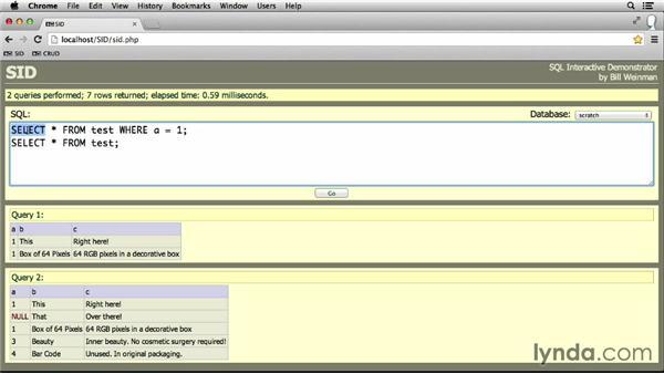 Deleting rows: MySQL Essential Training