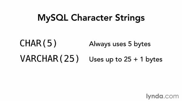 String types: MySQL Essential Training