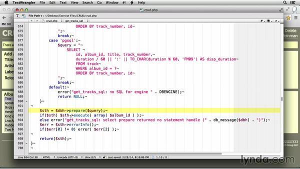 Executing the SQL: MySQL Essential Training