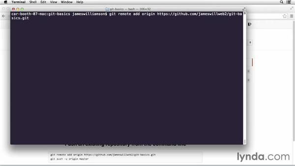Pushing files to remote repos: GitHub for Web Designers