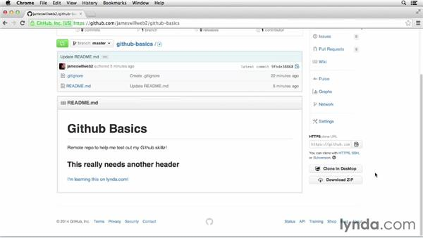 Cloning the repo locally: GitHub for Web Designers