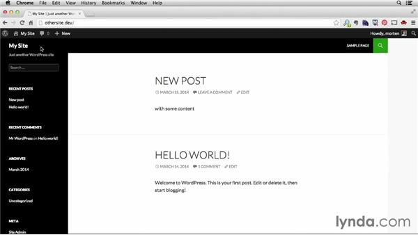 Creating additional development sites: Installing and Running WordPress: DesktopServer