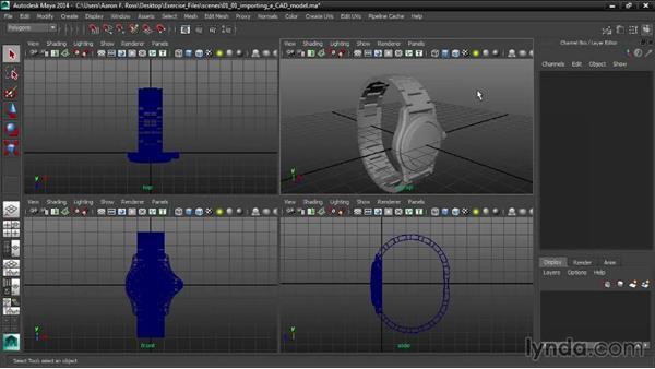 Importing a CAD model: Creating Product Shots in Maya