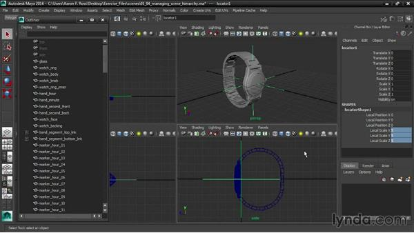 Managing the scene hierarchy: Creating Product Shots in Maya