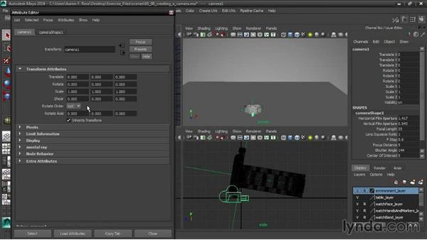 Creating a camera: Creating Product Shots in Maya