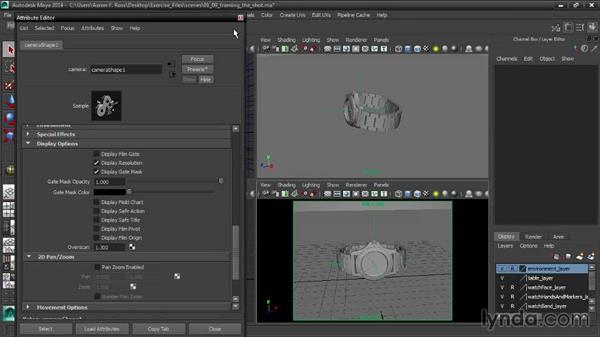 Framing the shot: Creating Product Shots in Maya