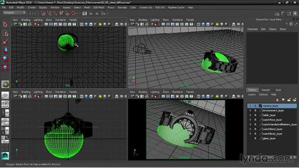 Creating an ideal diffuse test object: Creating Product Shots in Maya