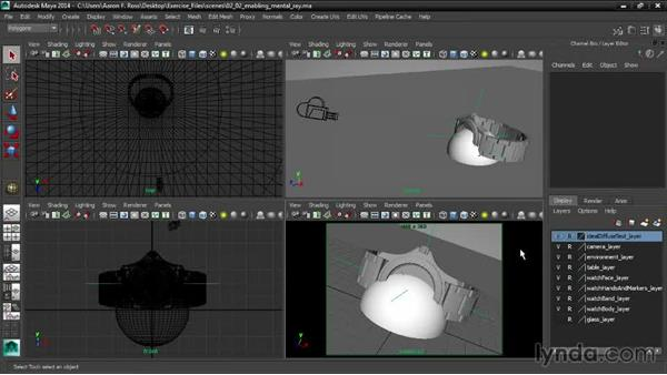Enabling mental ray: Creating Product Shots in Maya