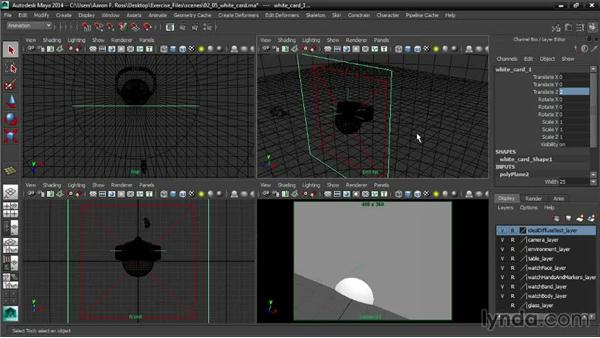 Building white cards: Creating Product Shots in Maya