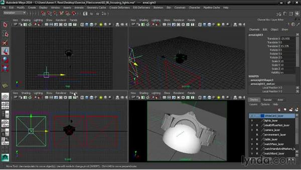 Focusing the lights: Creating Product Shots in Maya