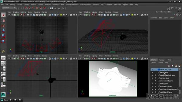 Controlling intensity: Creating Product Shots in Maya