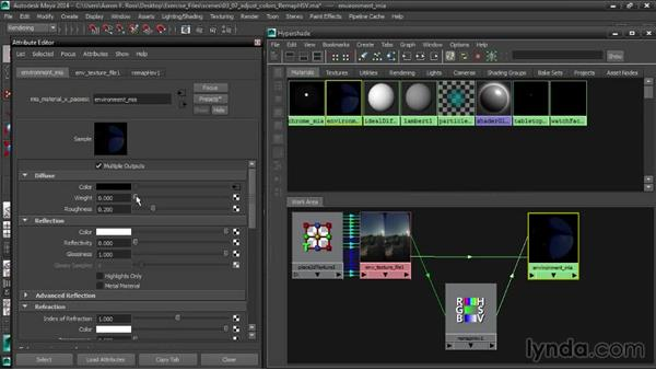 Adjusting colors with RemapHSV: Creating Product Shots in Maya