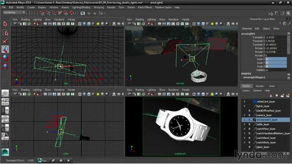 Fine-tuning studio lights: Creating Product Shots in Maya