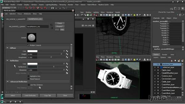 Creating a painted metal material: Creating Product Shots in Maya
