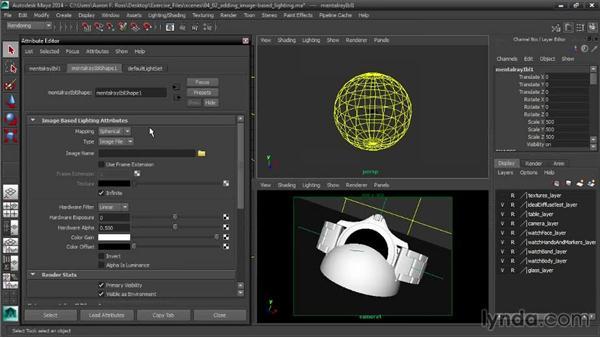 Adding image-based lighting: Creating Product Shots in Maya