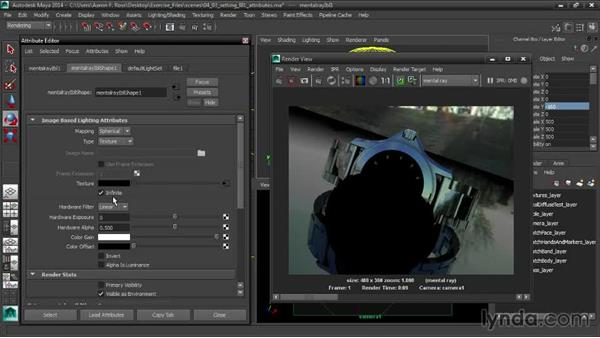 Setting IblShape attributes: Creating Product Shots in Maya